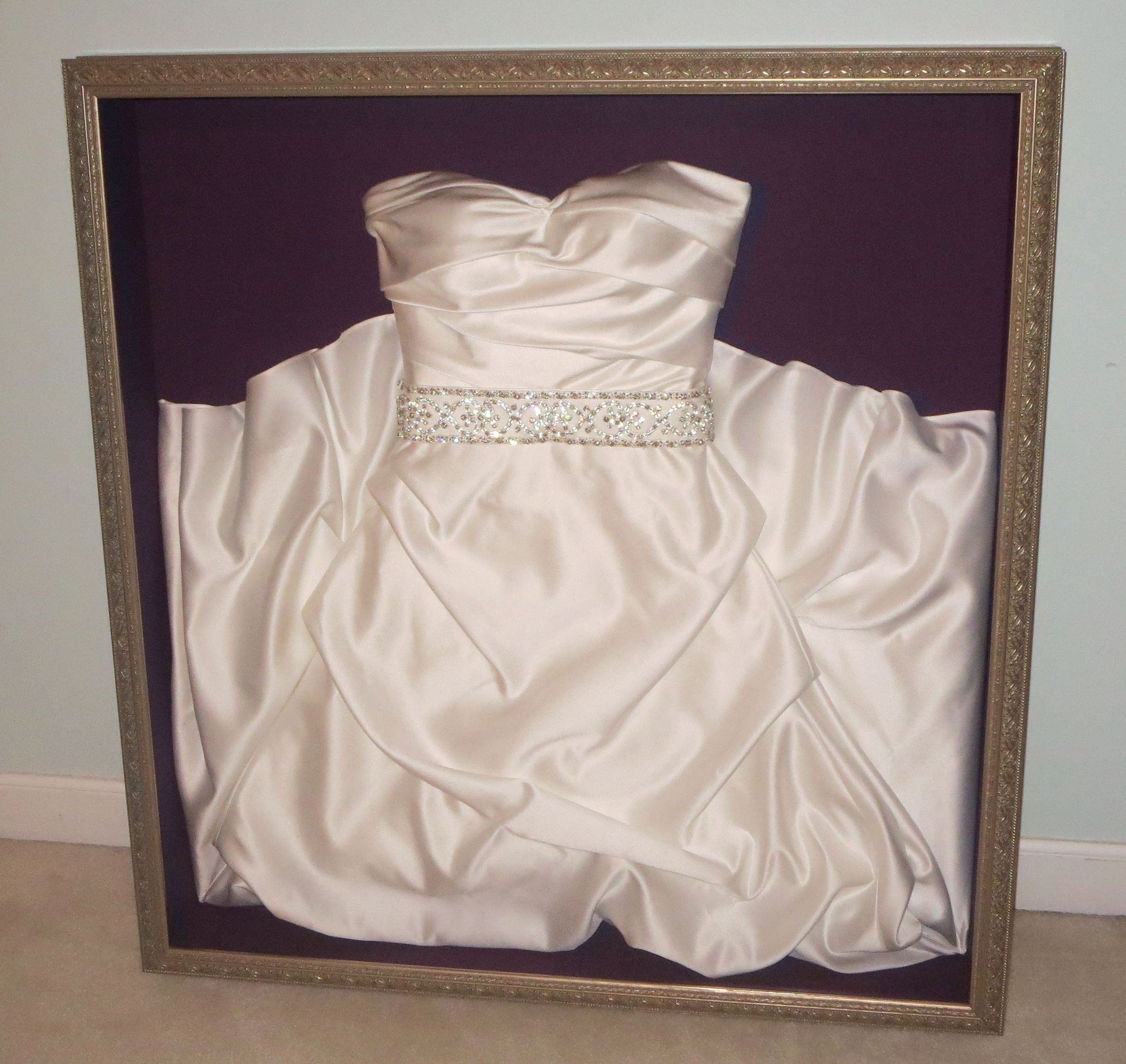 frame your wedding dress our front door looking in