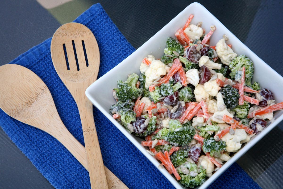 Broccoli Cauliflower & Carrot Salad