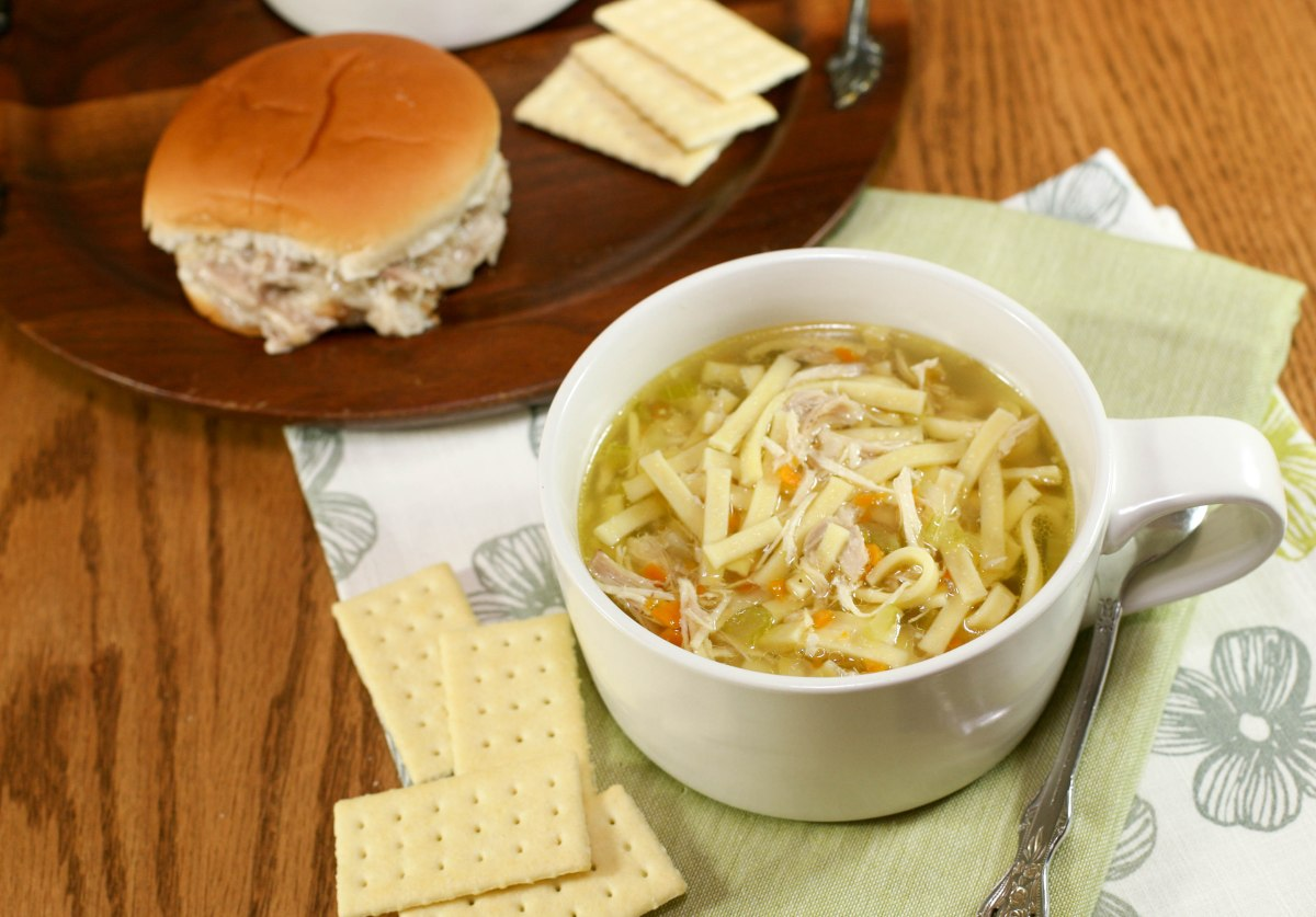 Chicken Noodle Soup + Cream Chicken Sandwiches